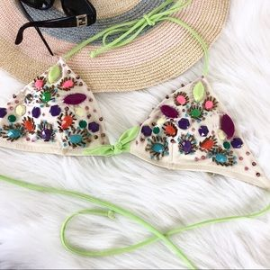 Victoria's Secret jeweled bikini top M